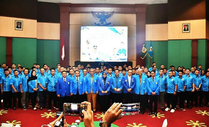 Pengurus KNPI Kabupaten Bogor periode 2019-2022.