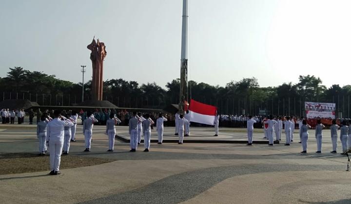 Upacara Peringatan Proklamasi  Republik Indonesia Ke – 74. Di lapangan Tegallega Kota Bandung. Sabtu (17/08/19).