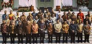 Menteri Kabinet Indonesia Maju 2019 -2024 di Istana Kepresidenan.