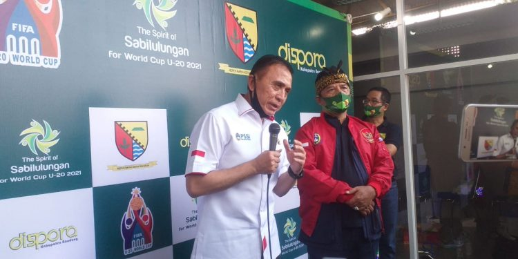 Ketua Umum PSSI Resmikan Soccer Training Sabilulungan Si Jalak Harupat